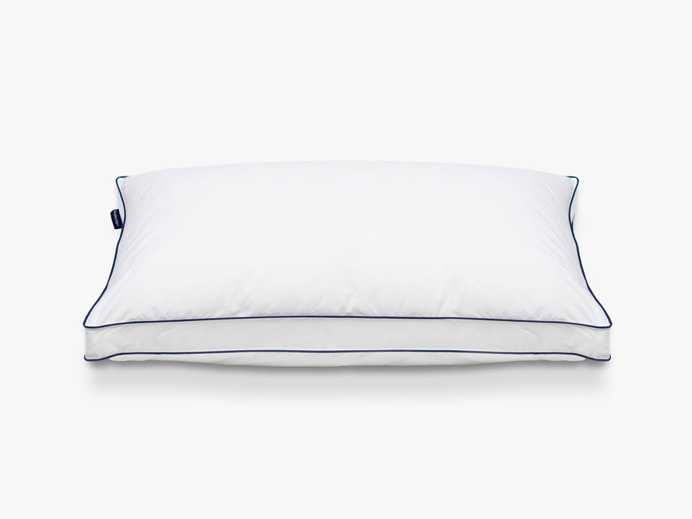 Front view of GoodMorning.com adjustable memory foam pillow